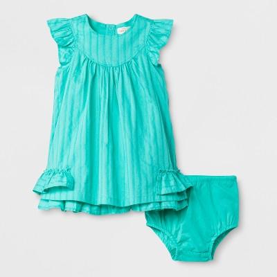 Baby Girls' A-Line Dress - Cat & Jack™ Iridescent Green 3-6M