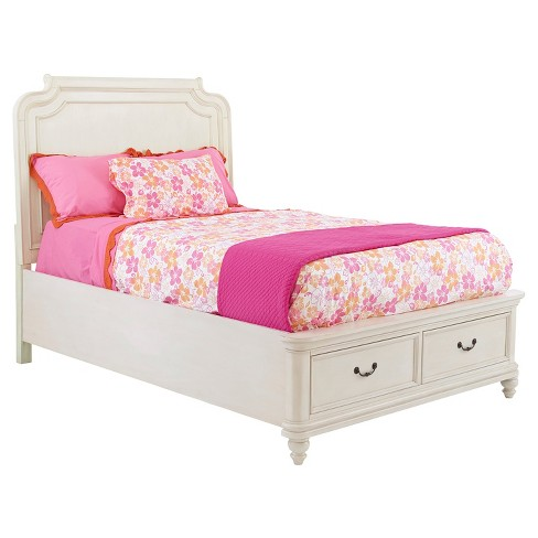 Madison Collection Upholstered Twin Bed Kit with Storage - White - Pulaski - image 1 of 2