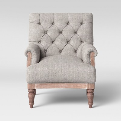 Alford Rolled Arm Tufted Chair - Threshold™