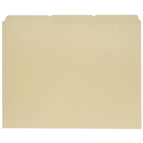Pendaflex 1/3 Cut Recycled File Folder, Letter, 3/4 in Expansion, Mediumweight, Manila, pk of 100 - image 1 of 1
