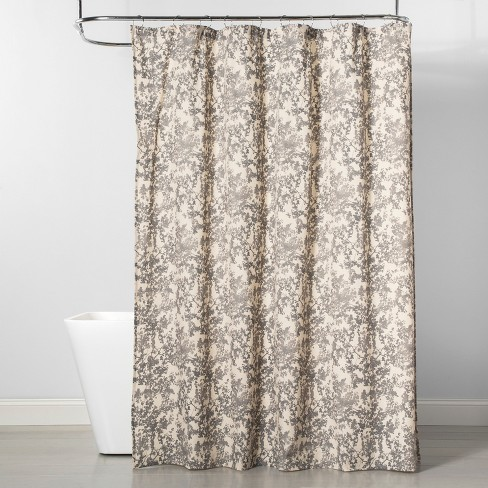Floral Shower Curtain Tan - Project 62™ - image 1 of 3