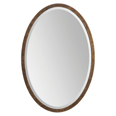 Oval Chatwyn Decorative Wall Mirror Cocoa - Surya - image 1 of 2