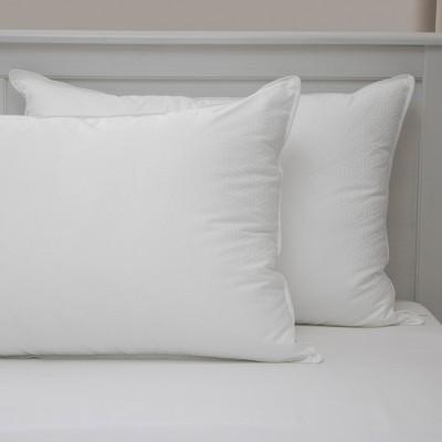 BioPEDIC Luxury Hotel Quality Gel Fiber Down Alternative Jumbo Bed Pillow - 2 Pack
