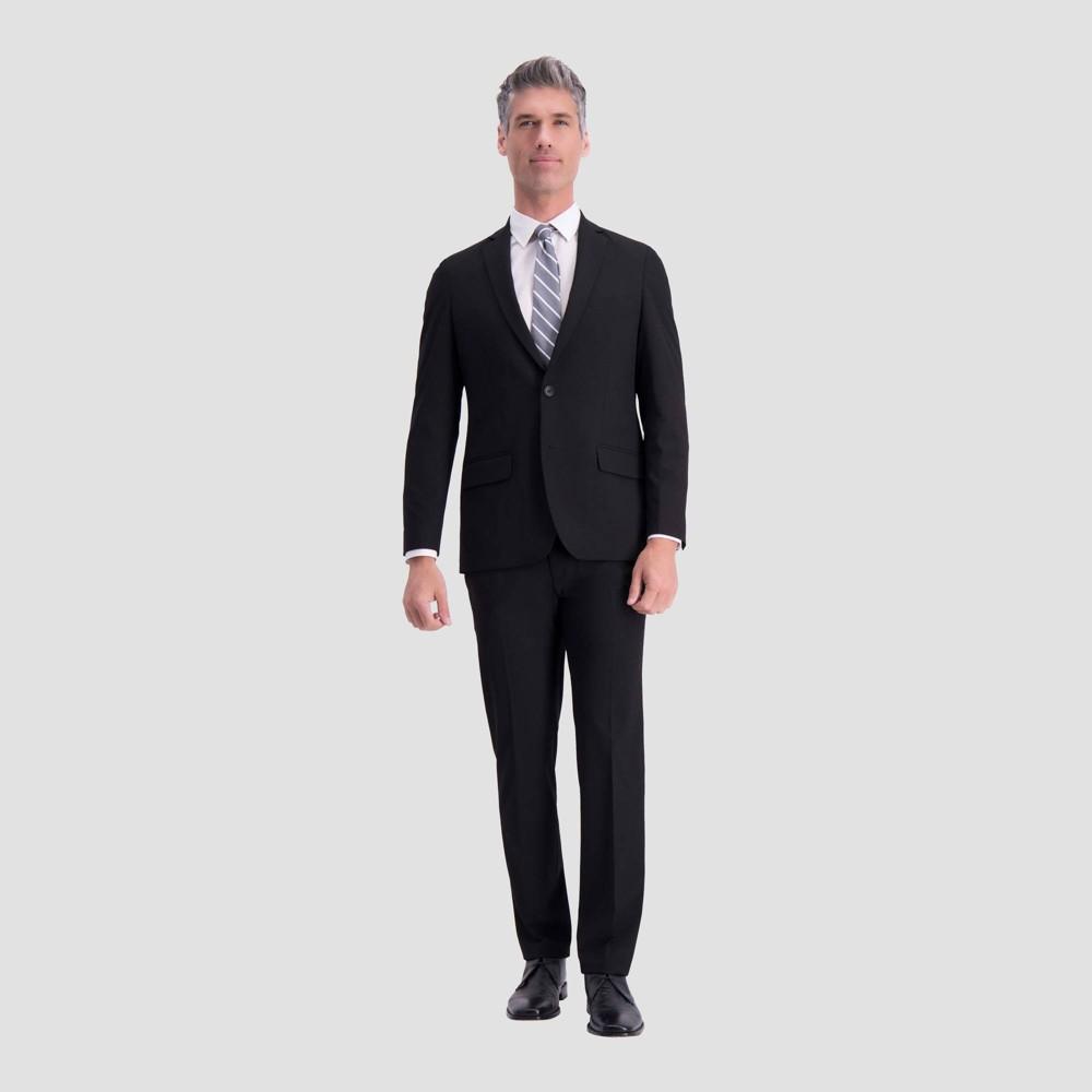 Haggar H26 Men S Slim Fit Premium Stretch Suit Jacket Black 34 Regular