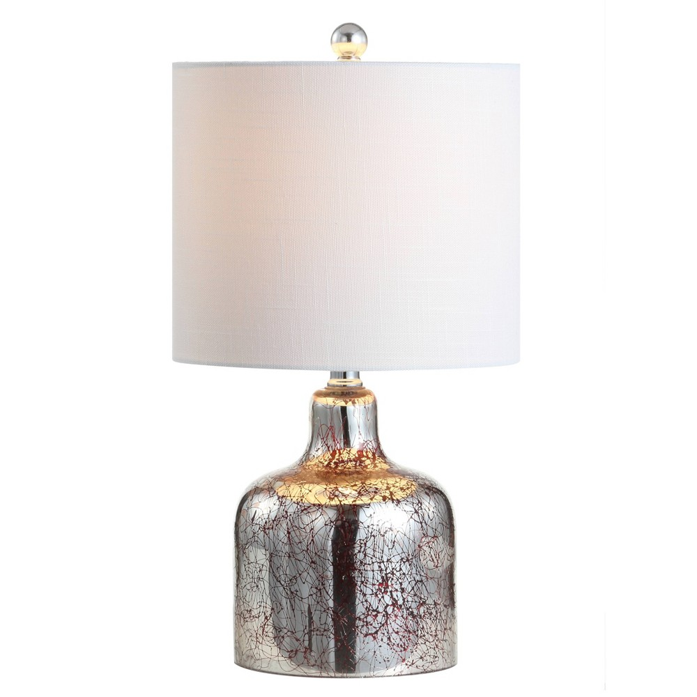 "Image of ""19"""" Gemma Glass Bell LED Table Lamp Chrome (Includes Energy Efficient Light Bulb) - JONATHAN Y"""