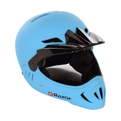 Razor 97876 Youth Child Full Face Riding Multi Sport Bicycle Scooter Safety Helmet For Children with Adjustable Visor, Matte Blue