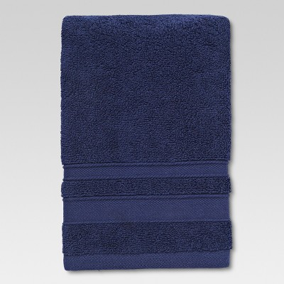 Performance Solid Texture Hand Towel Navy Blue - Threshold™