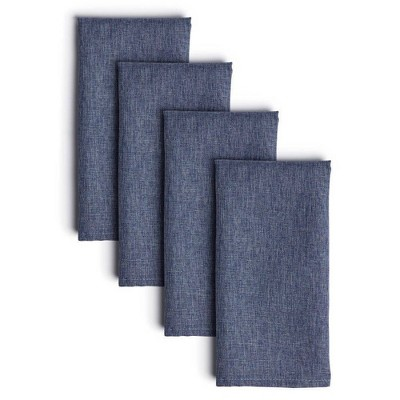 "4pk 20""X20"" Somers Napkins Blue - Town & Country Living"