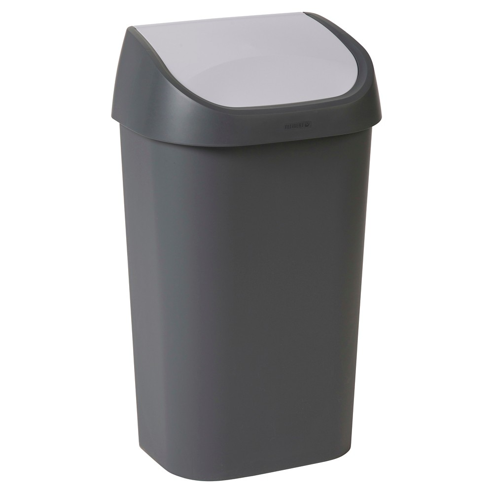 Image of Curver Mistral 50L Pivot Lid Trash Can, Grey