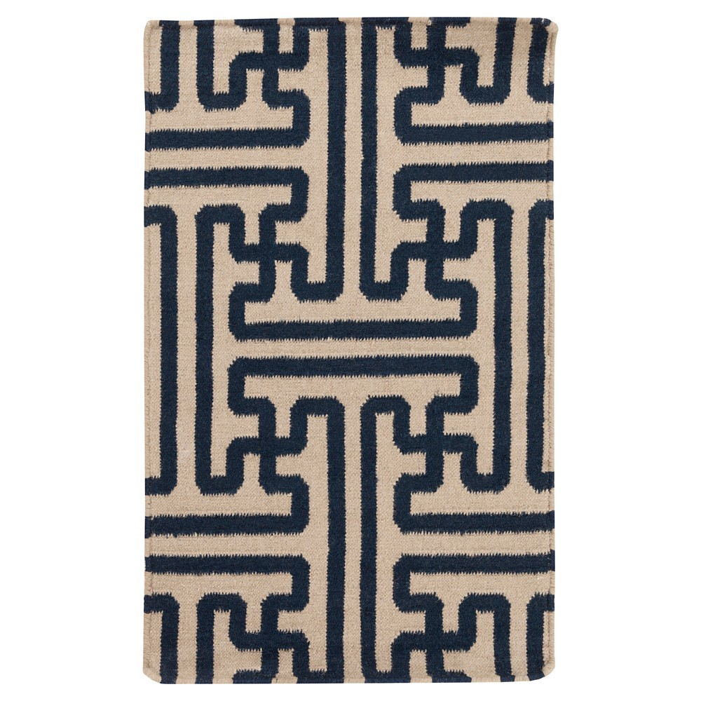 Black Abstract Woven Accent Rug - (2'X3') - Surya