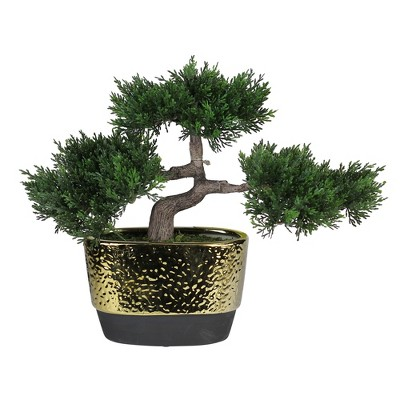 """Northlight 10"""" Unlit Artificial Potted Japanese Bonsai Tree"""