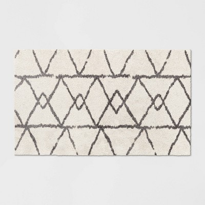 """2'5""""X4' Geometric Design Woven Accent Rug White - Project 62™"""