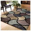 """Blue Solid Woven Area Rug - (6'7""""X9'8"""") - Orian - image 2 of 4"""