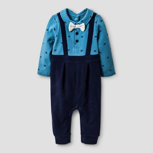 381c694a3e72 Baby Boys  Quilted Pants Little Man Romper Cat   Jack™ - Turquoise 0 ...