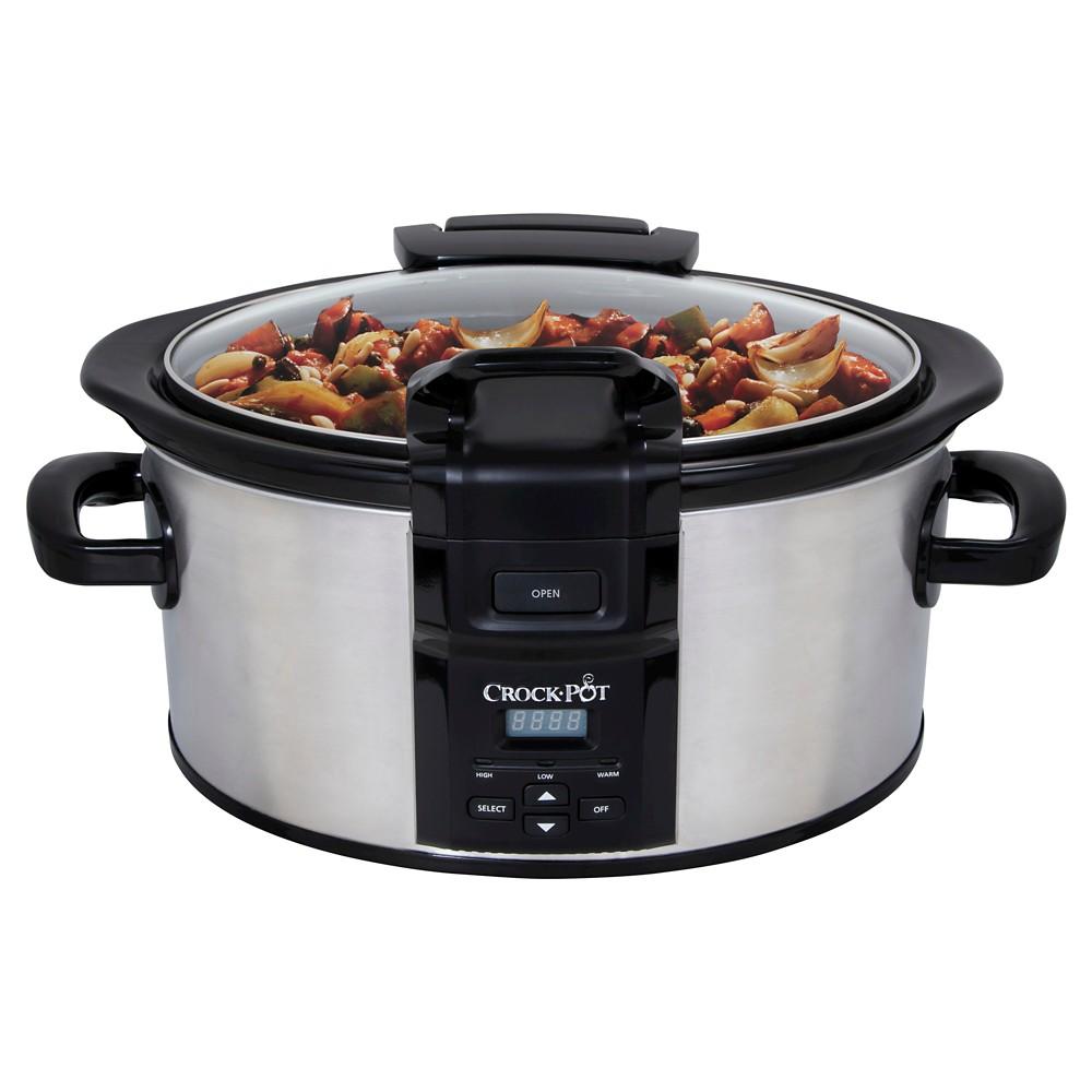 Crock-Pot Programmable Lift & Serve 6 Qt. Slow Cooker – Stainless Steel (Silver) SCCPVC600LH-S 51983224