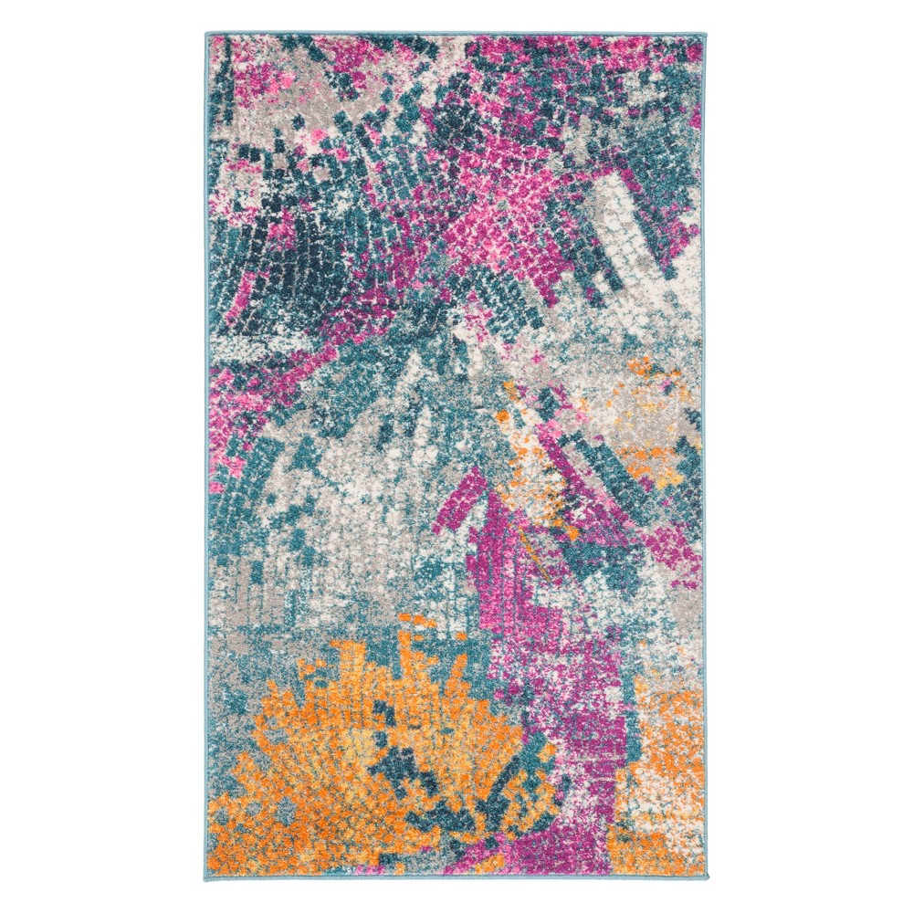 3X5 Mosaic Design Loomed Accent Rug Blue - Safavieh Reviews