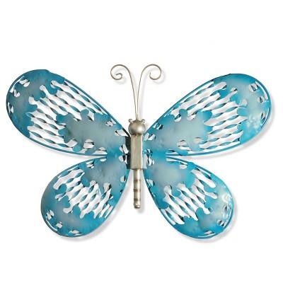 "18"" Blue Butterfly Wall Decor - National Tree Company"