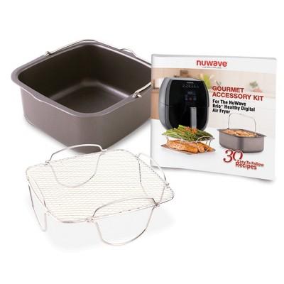 NuWave 3qt Brio Digital Air Fryer Gourmet Accessory Kit