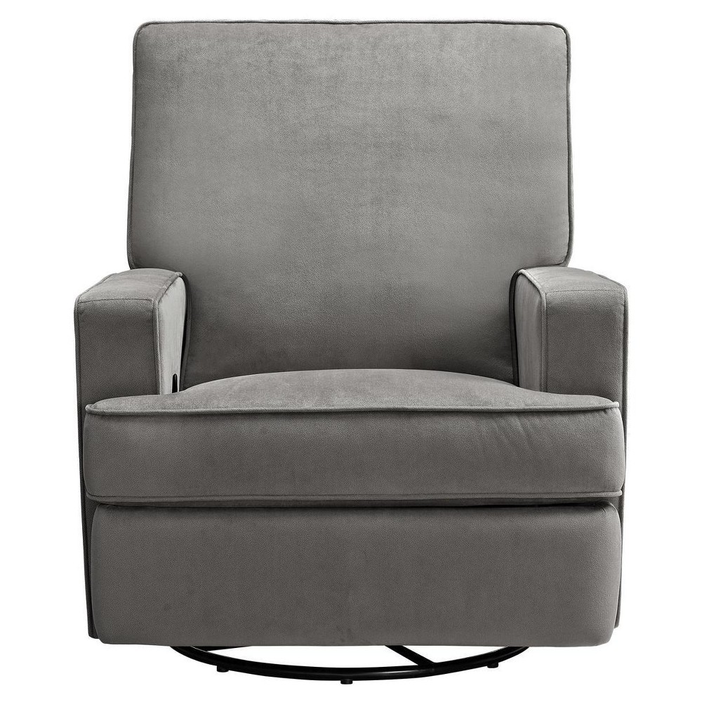 Image of Baby Relax Addison Swivel Gliding Recliner - Gray