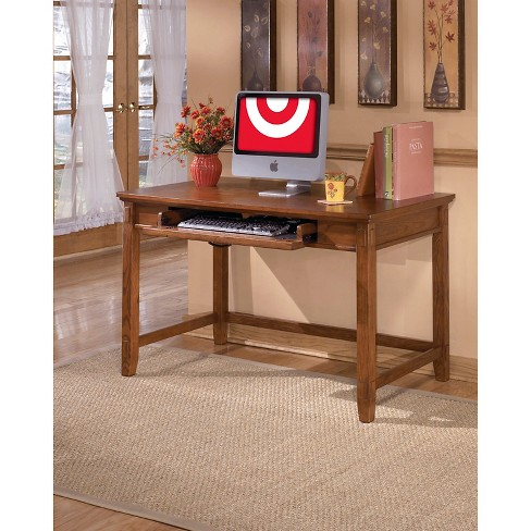 Cross Island Home Office Small Leg Desk Medium Brown Signature Design By Ashley Target