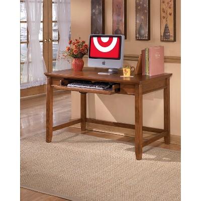 Cross Island Home Office Small Leg Desk Medium Brown   Signature Design By  Ashley : Target