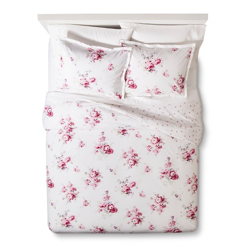 Pink Sunbleached Floral Duvet Cover Set - Simply Shabby Chic™ - image 1 of 4