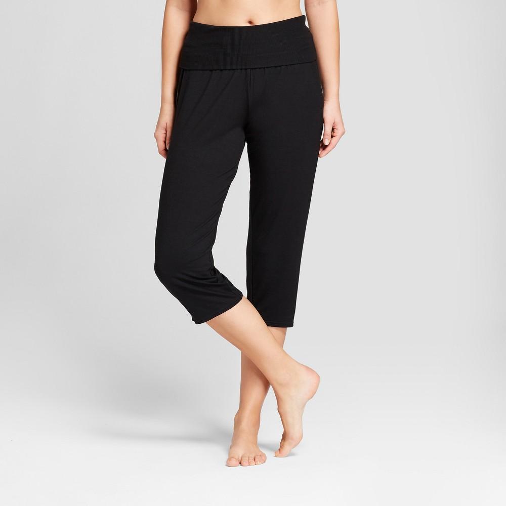 Nursing Post Maternity Crop Pajama Pants Black XL, Women's