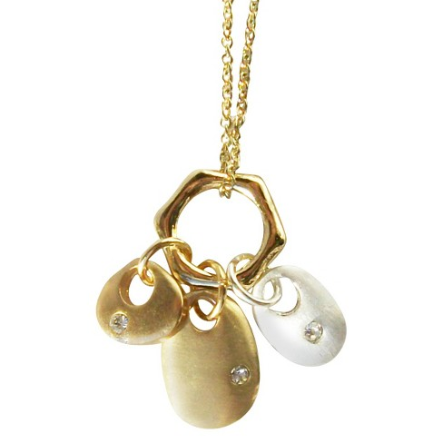 "Zirconite Charm Necklace Gold - 16"" - image 1 of 1"