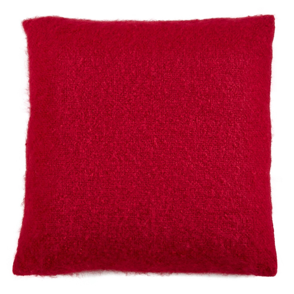 22 34 X22 34 Oversize Faux Mohair Poly Filled Square Throw Pillow Red Saro Lifestyle
