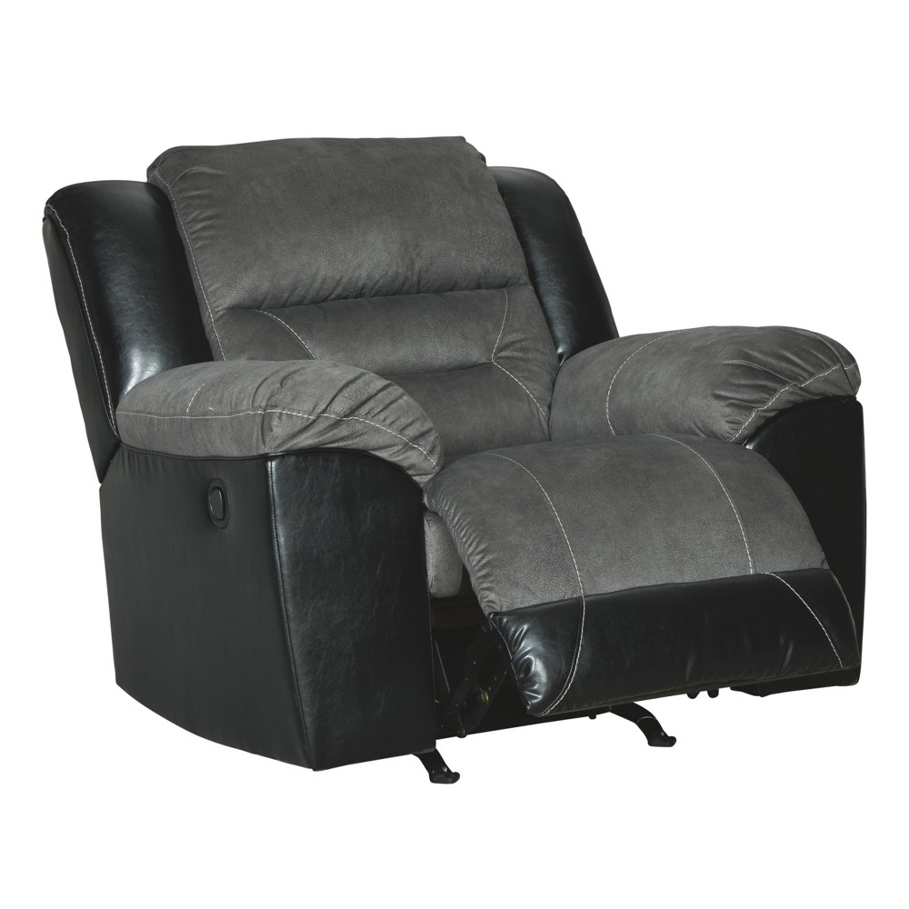 Earhart Rocker Recliner Gray - Signature Design by Ashley
