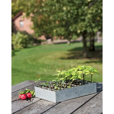 Galvanized Seed Starting Tray - Gardener's Supply Company