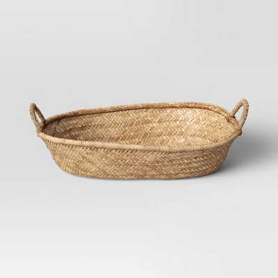 "15"" x 5"" Decorative Seagrass Woven Tray Natural - Threshold™"