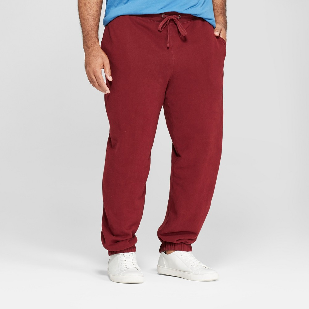 Men's Tall Fleece Cinched Jogger Pants - Goodfellow & Co Berry Cobbler Xlt