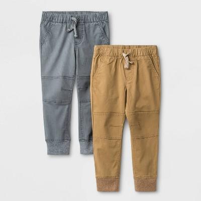Toddler Boys' 2pk Jogger Pants - Cat & Jack™ Brown/Gray 2T