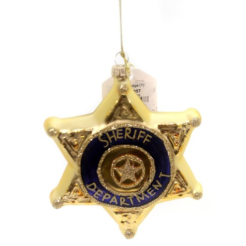 "Holiday Ornament 4.75"" Sheriff Badge Police Department Christmas  -  Tree Ornaments - image 1 of 3"