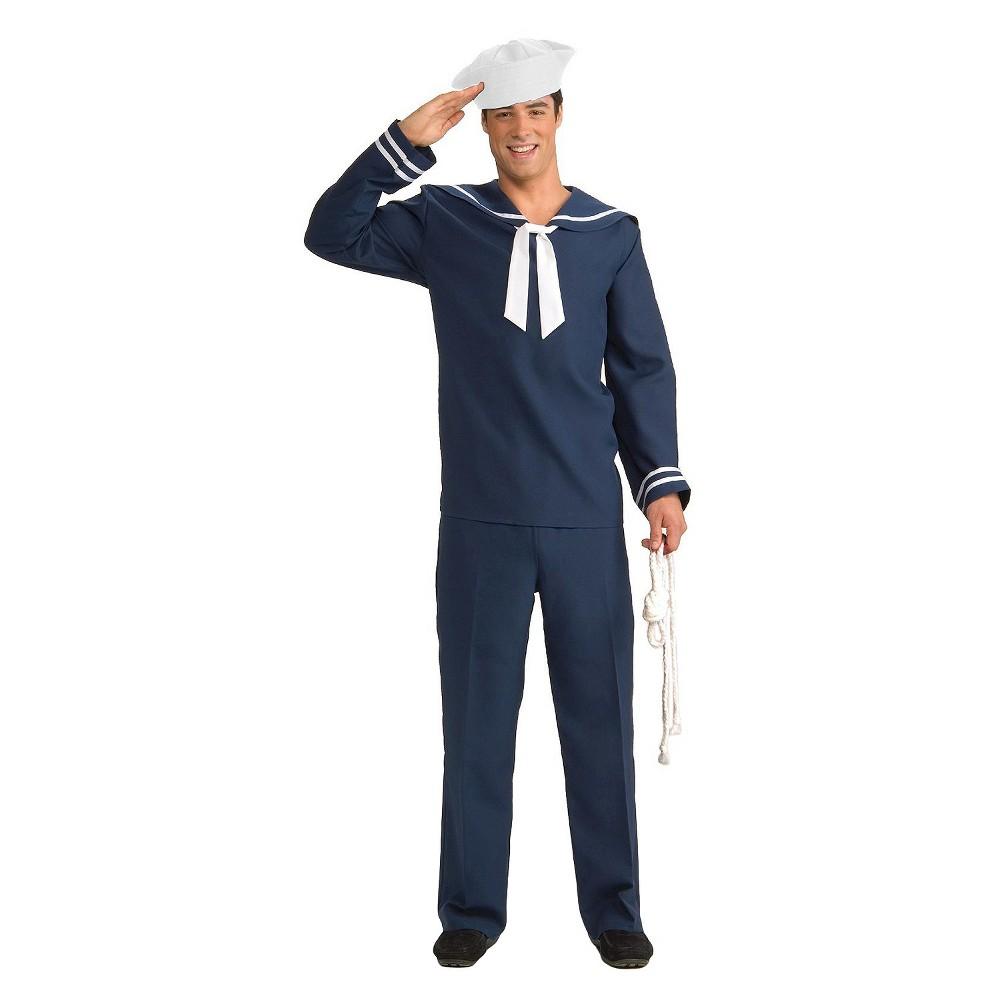 1940s Mens Clothing Mens Ahoy Matey Adult Costume - One Size Fits Most White $20.99 AT vintagedancer.com