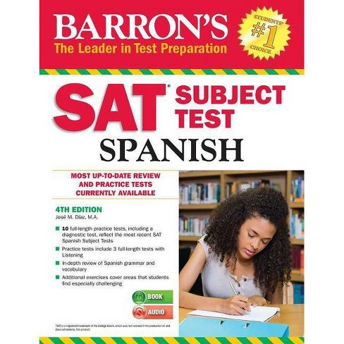 Barron's SAT Subject Test Spanish - 4 Edition by Jose M Diaz (Mixed media  product)