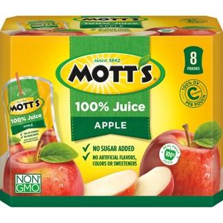Motts 100% Original Apple Juice - 8pk/6.75 fl oz Pouches