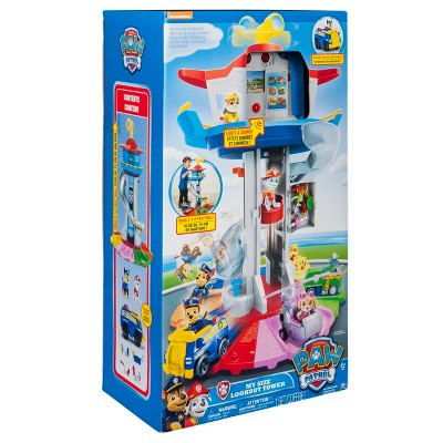 PAW Patrol My Size Lookout Tower with Exclusive Vehicle, Rotating Periscope and Lights and Sounds