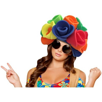 Funky Fresh Flowers Wig Adult Foam Costume Hat One Size Fits Most