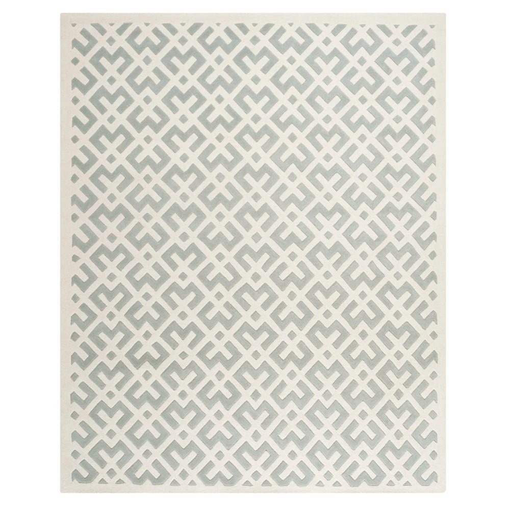 Gray/Ivory Geometric Tufted Area Rug 8'X10' - Safavieh