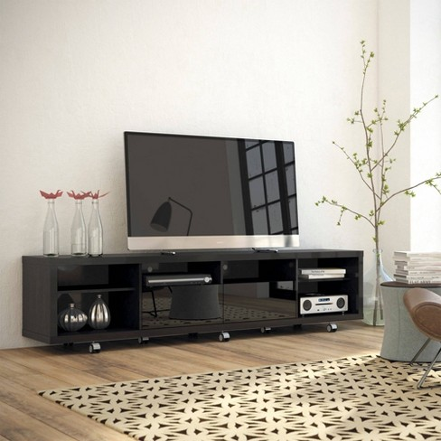 Cabrini TV Stand and Floating Wall TV Panel with Led Lights 2 2 - Manhattan  Comfort