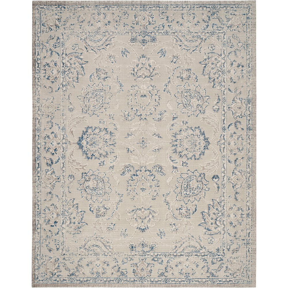 10'X14' Floral Loomed Area Rug Gray/Blue - Safavieh