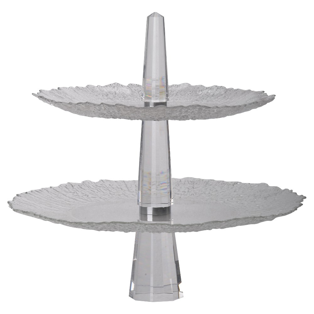 Image of 2-Tiered Tray - A&b Home, Medium Clear
