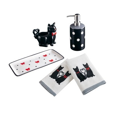Cat Bath Coordinate Set - Black