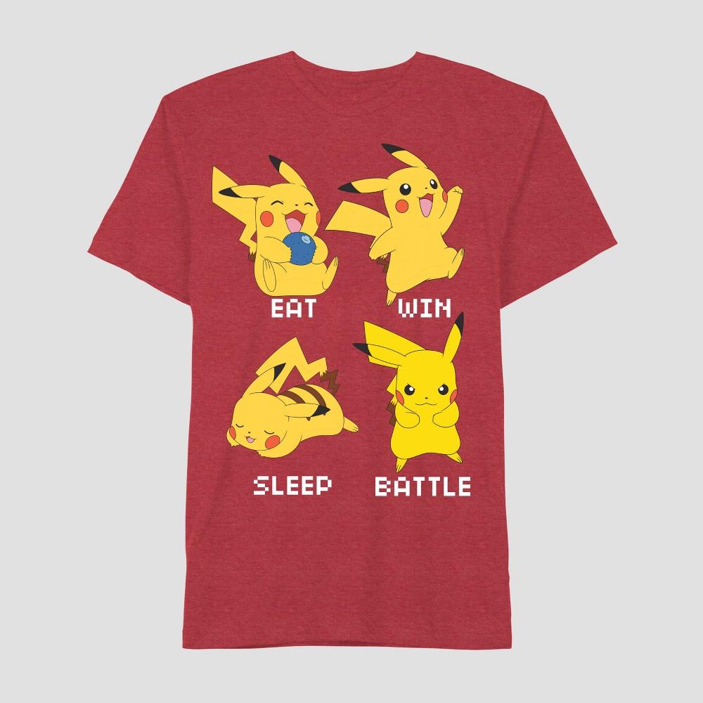 Boys' Pikachu Short Sleeve T-Shirt - Red XS