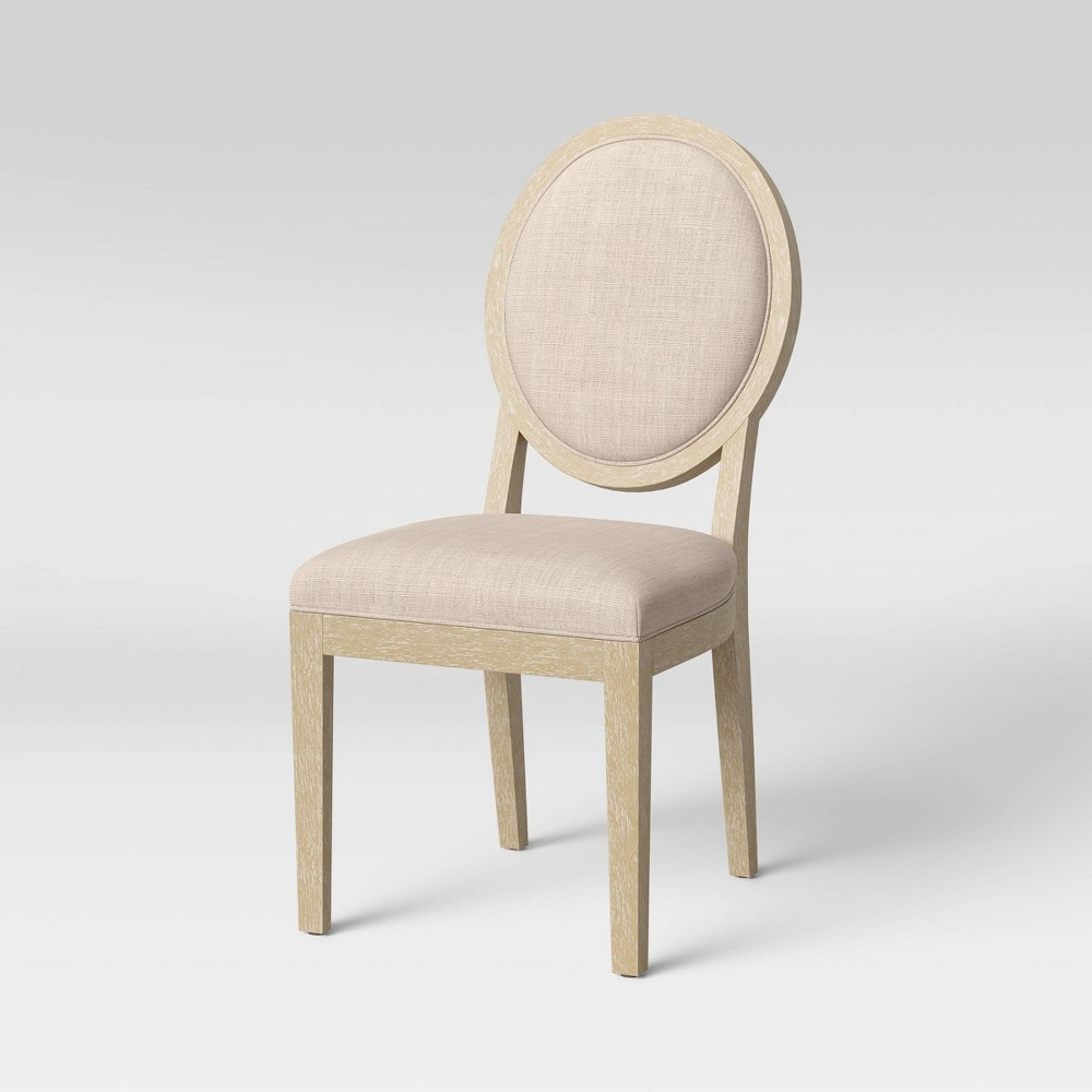 Kelly Oval Back Dining Chair Linen Threshold 8482
