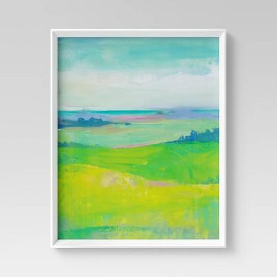 """24"""" x 30"""" Watercolor Landscape Framed Wall Art - Opalhouse™"""
