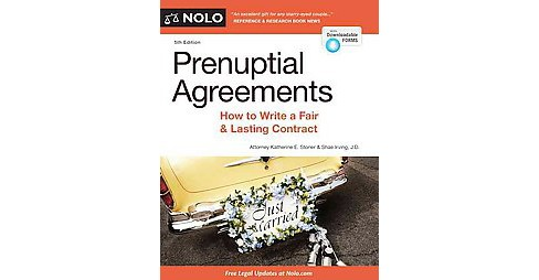 Prenuptial Agreements : How to Write a Fair and Lasting Contract (Paperback) (Katherine E. Stoner) - image 1 of 1