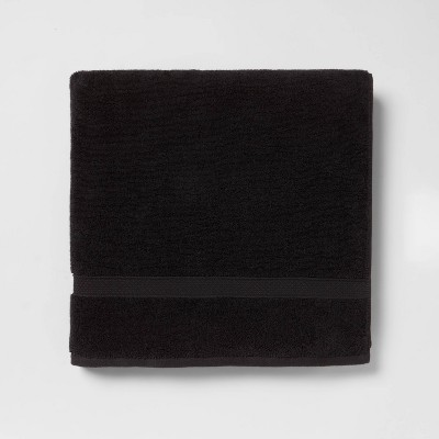 Soft Solid Bath Sheet Black - Opalhouse™